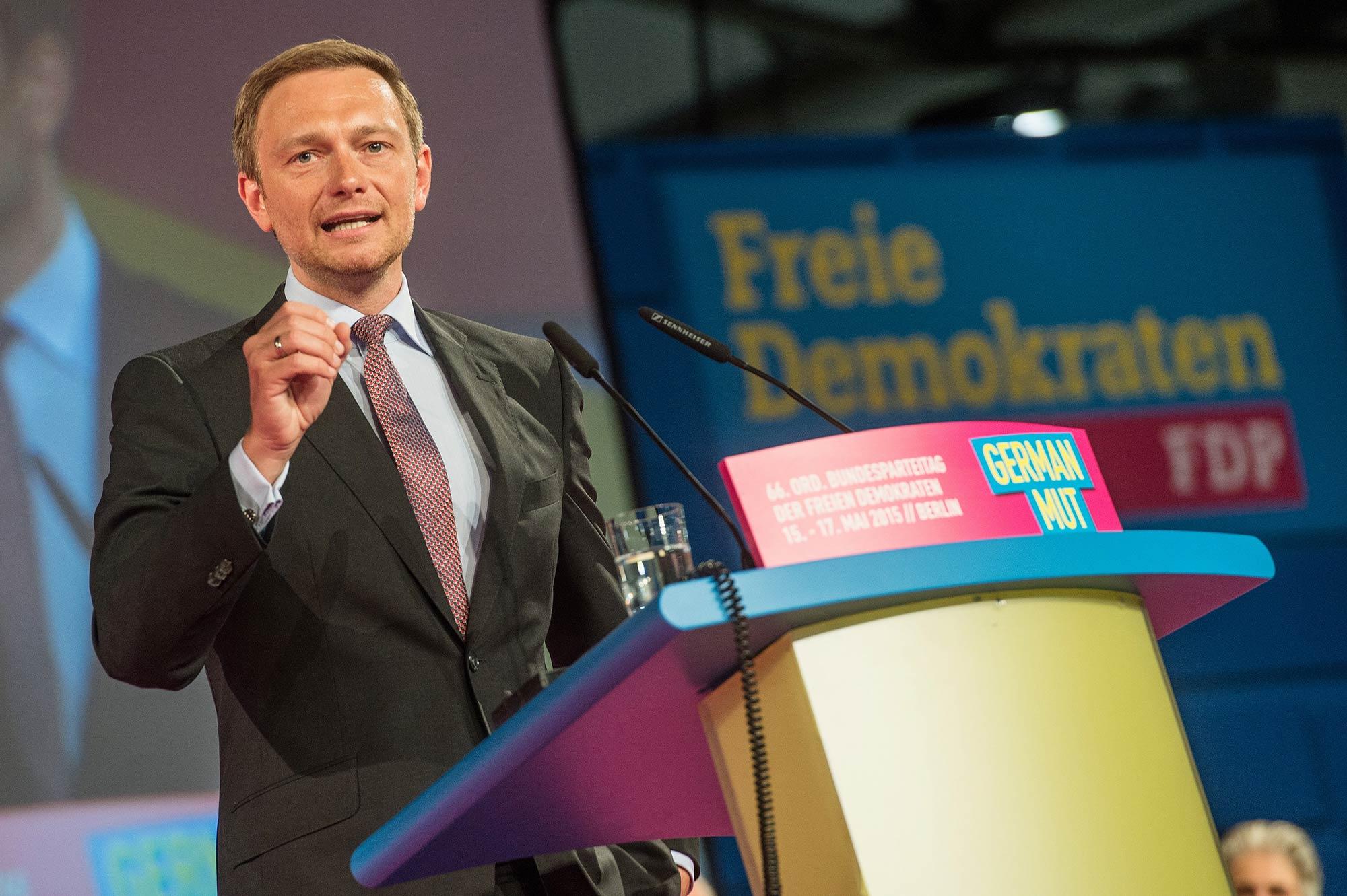 Porträt Christian Lindner, Bundesvorsitzender der FDP