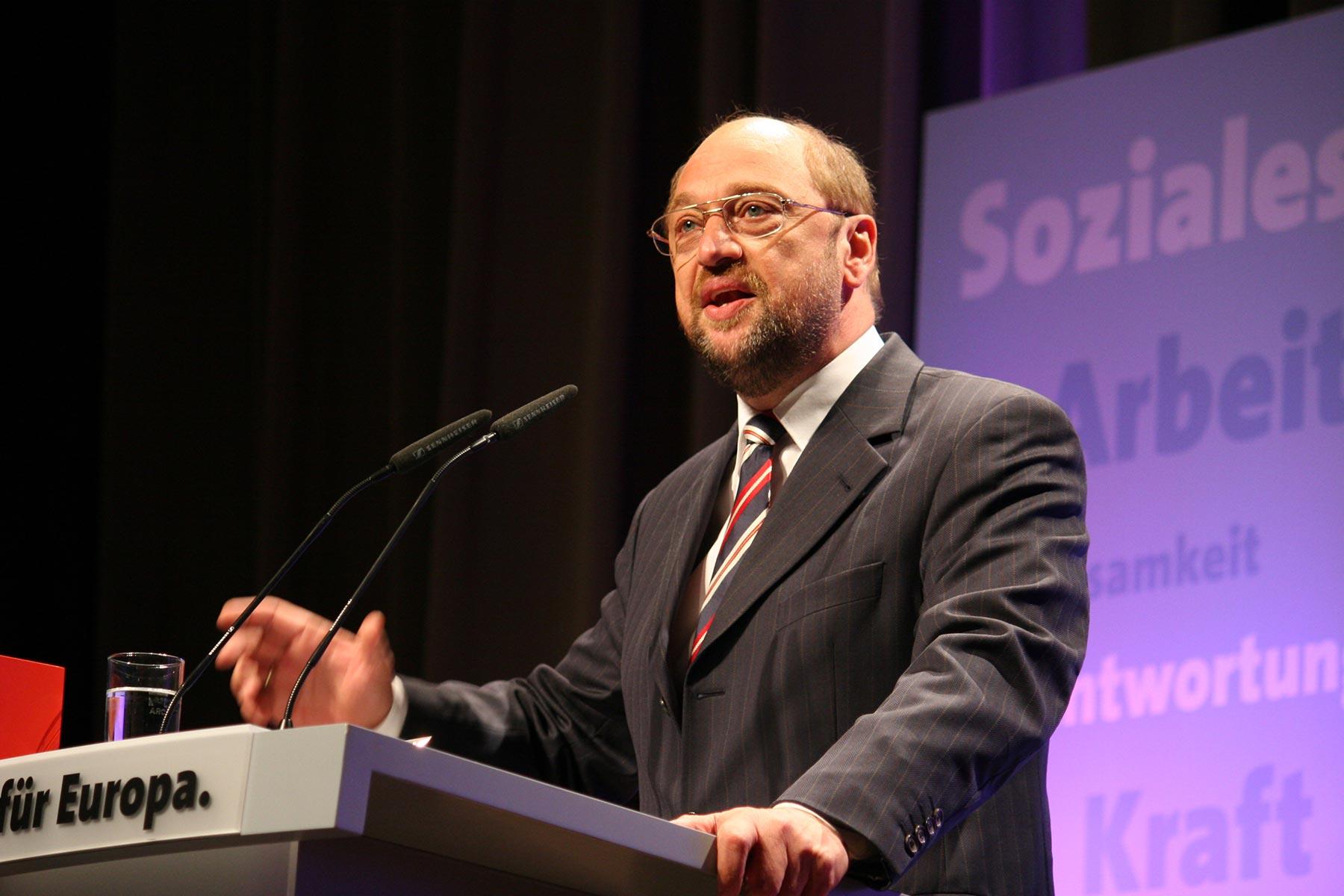 Porträt Martin Schulz im Wahlkampf zur Europawahl 2009 ©Mettmann